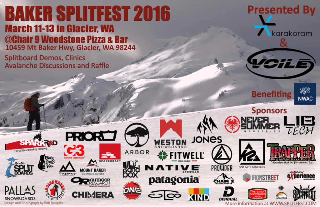 Poster for the 2016 Baker Splitfest